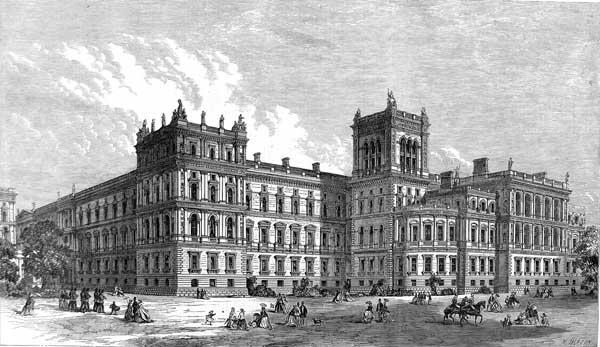 Zeichnung des Foreign Offices im Jahr 1866