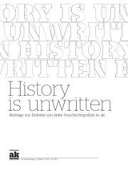 Schrift History Unwritten