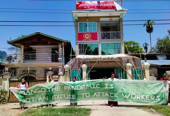 Textilarbeiter*innen protestieren gegen ihre Entlassung