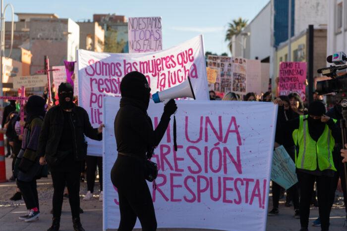 Demonstration nach dem Tod von Isabel Cabanillas, am 25. Januar 2020