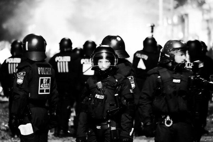 Polizist auf dem G20 Gipfel in Hamburg 2017