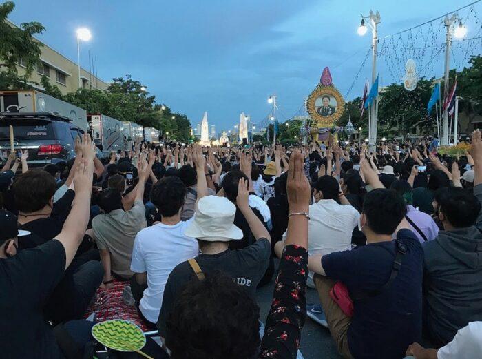 Proteste in Thailand im Spätsommer 2020.