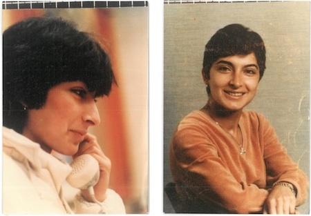 Zwei Fotos der Dichterin Semra Ertan